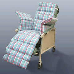 Comfort Seat Chair Overlay with Plaid Cover for Geri Chairs & Recliners by New York Orthopedic | Medical Supplies