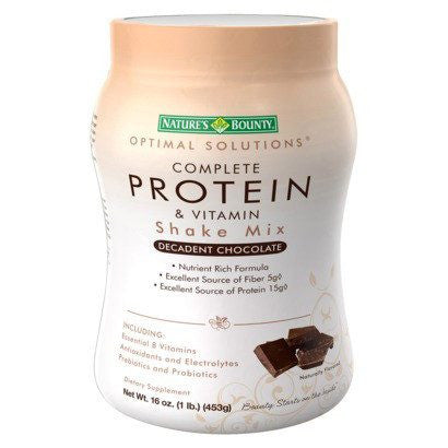 Buy Complete Protein and Vitamin Shake Mix 16 oz Decadent Chocolate by Nature