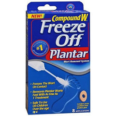 Buy Compound W Freeze Off Plantar Wart Removal System, 8 Treatments by MedTech from a SDVOSB | Plantar Warts