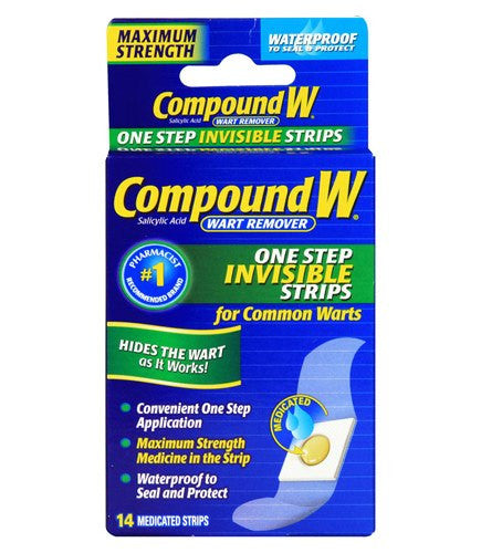 Compound W One Step Wart Removal Invisible Pads 14 Count