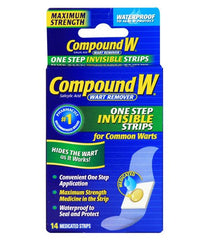 Buy Compound W One Step Wart Removal Invisible Pads 14 Count by MedTech online | Mountainside Medical Equipment