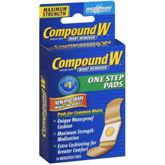 Compound W One Step Wart Removal Invisible Pads 14 Count for n/a by MedTech | Medical Supplies