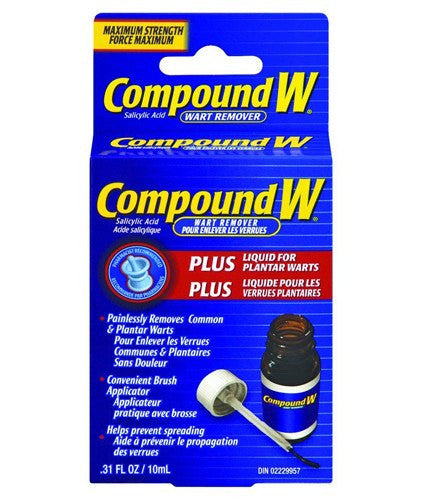 Compound W Plus Wart Remover Liquid, 0.31 oz