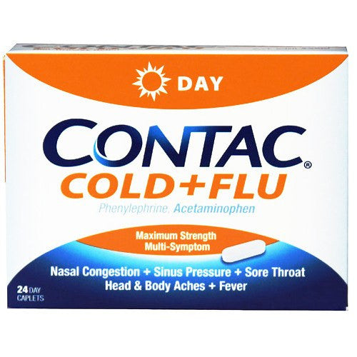 Contac Maximum Strength Cold & Flu Daytime Non-Drowsy formula