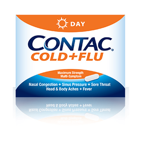 Buy Contac Cold and Flu Day Non-Drowsy Formula, 24ct by Meda Consumer Healthcare | Home Medical Supplies Online