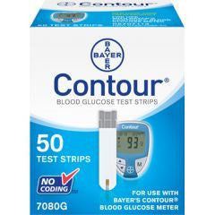 Buy Bayer Contour Test Strips 50/box online used to treat Diabetes Supplies - Medical Conditions