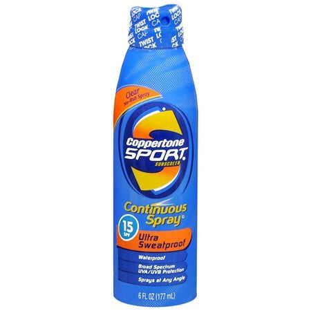 Buy Coppertone Sport Continuous Spray SPF 15  - 6 oz by Coppertone online | Mountainside Medical Equipment