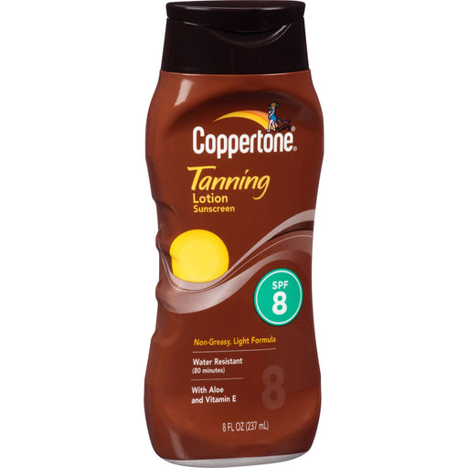 Buy Coppertone Tanning Sunscreen Lotion 8 SPF online used to treat Sunscreen - Medical Conditions