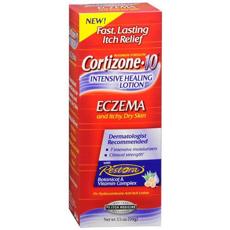 Buy Cortizone 10 Intensive Healing Eczema Lotion online used to treat Eczema Relief Cream - Medical Conditions