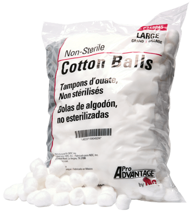 Pro Advantage Cotton Balls, Medium (2000/bag) - Professions - Mountainside Medical Equipment