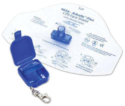 Buy CPR Face Shield with Airway Shield Keychain used for CPR Mask by ADC