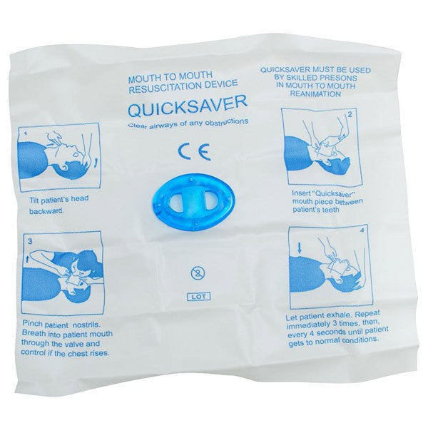 QuickSaver CPR Face Shield Barrier - CPR Masks - Mountainside Medical Equipment