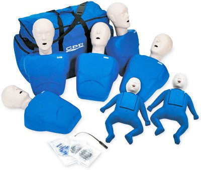 CPR Training Manikins Set of 7 - CPR Masks & Supplies - Mountainside Medical Equipment