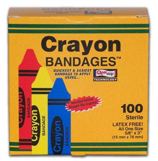 Crayon Adhesive Bandages 100 Count - Adhesive Bandages - Mountainside Medical Equipment