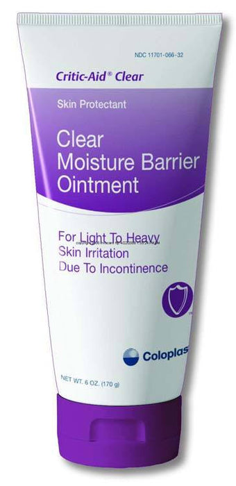Coloplast Critic-Aid Clear Moisture Barrier Ointment 6 oz - Diaper Rash Moisture Barrier - Mountainside Medical Equipment