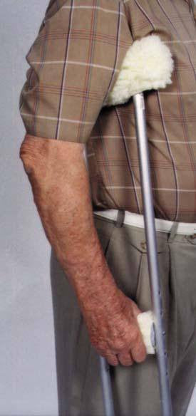 Buy Sheepette Lambswool Crutch Covers by Essential from a SDVOSB | Physical Therapy