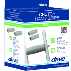 Drive Medical Gray Crutch Hand Grips, Closed-Style for Daily Living Aids by Drive Medical | Medical Supplies