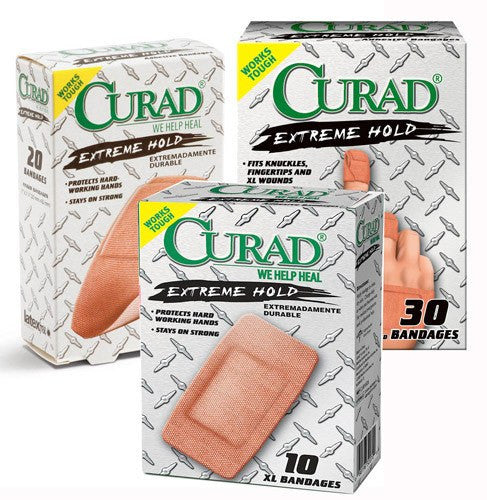 Curad Extreme Hold Bandages Assorted Sizes 30/Box