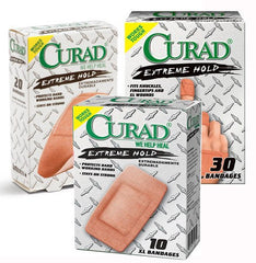 Buy Curad Extreme Hold Bandages Assorted Sizes 30/Box by Curad online | Mountainside Medical Equipment