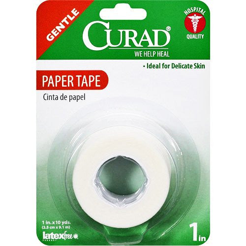 "Curad Gentle Paper Tape 1"" x 10 Yards for Tapes & Wound Closures by Curad 