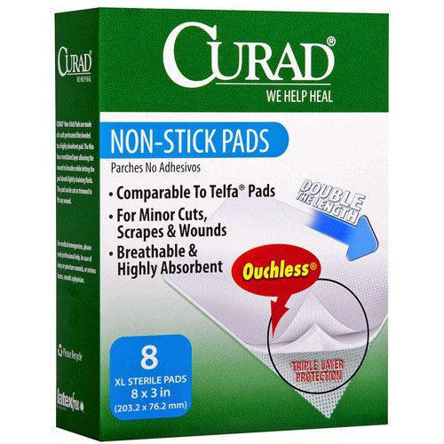 Curad Non-Stick Telfa Gauze Pads, 20/Box - Telfa Pads - Mountainside Medical Equipment