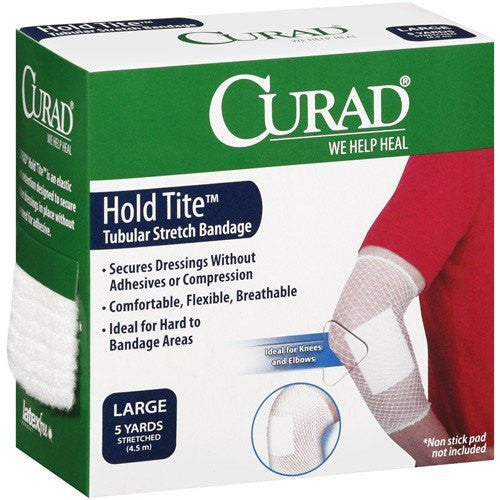 Curad Hold Tite Tubular Stretch Net Bandage, 5 Yards - Tublular Stretch Bandage - Mountainside Medical Equipment