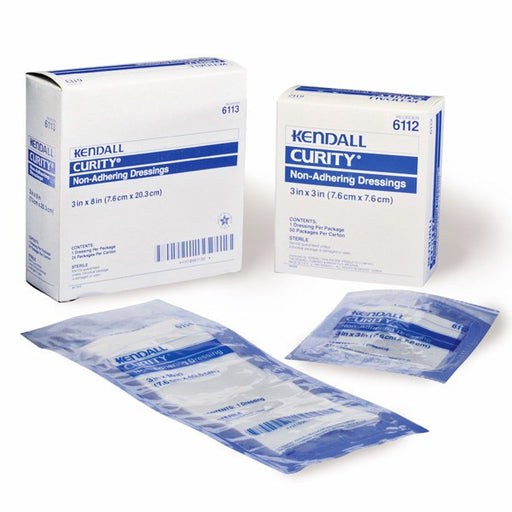 "Curity Oil Emulsion Non-Adhering Dressings 5"" x 9"", 12/Box - Non Adherent Dressings - Mountainside Medical Equipment"
