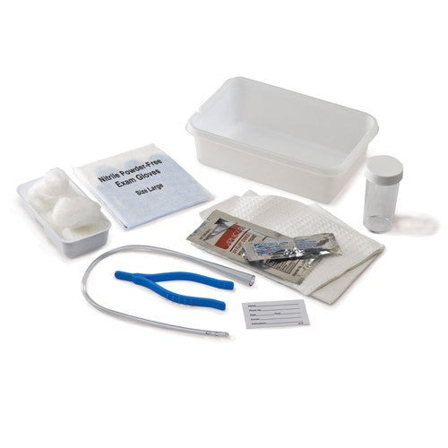 Curity Urethral Catheter Tray with Vinyl Catheter for Foley Kits and Trays by Kendall Healthcare | Medical Supplies
