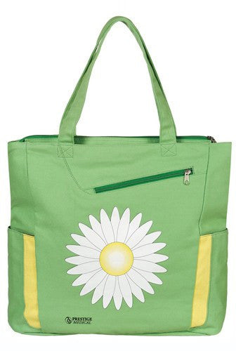Daisy Deluxe Canvas Tote Bag