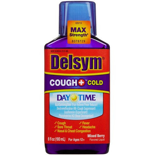 Delsym Adult Daytime Cough-Cold Mixed Berry 6 oz