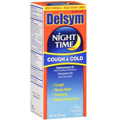 Delsym Adult Nighttime Cough and Cold 4 oz for Cold Medicine by Reckitt Benckiser | Medical Supplies