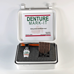 Buy Deluxe Mark-It Denture Marking Kit online used to treat Denture Labeling Kit - Medical Conditions