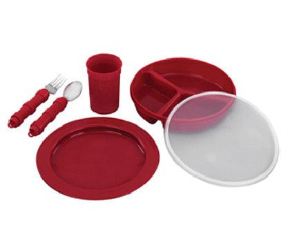 Buy Deluxe Redware Dinnerware Set by Briggs Healthcare/Mabis DMI from a SDVOSB | Dining Aids