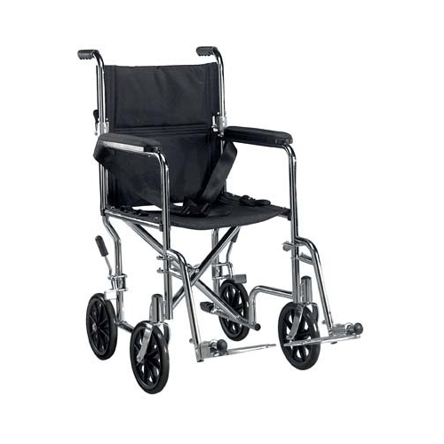 Deluxe Go Kart Steel Transport Chair - Wheelchairs - Mountainside Medical Equipment