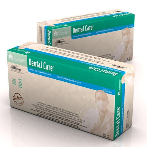Tillotson Dental Care Latex Gloves 100/Box