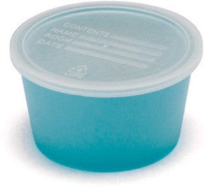 Denture Cups with Clear Lids, Blue, 250/Case