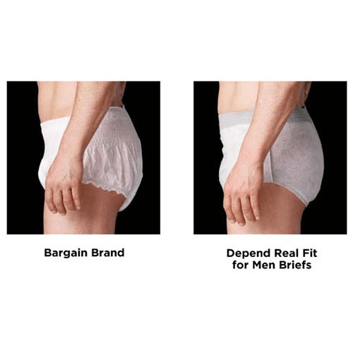 Depend Real Fit Briefs For Men Large- X-Large (10 Pack) - Incontinence - Mountainside Medical Equipment