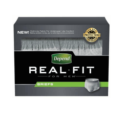 Buy Depend Real Fit Briefs For Men Large- X-Large (10 Pack) online used to treat Incontinence - Medical Conditions