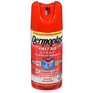 Dermoplast Antibacterial Pain Relieving Spray 2.75 oz - Antibacterial Topical Antiseptic - Mountainside Medical Equipment