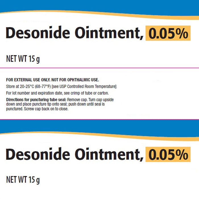 Desonide Ointment, 0 05%, 15 Grams