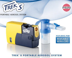 TREK S Portable Aerosol Nebulizer System Standard 47F45-LCS for Nebulizer Machines by Pari | Medical Supplies
