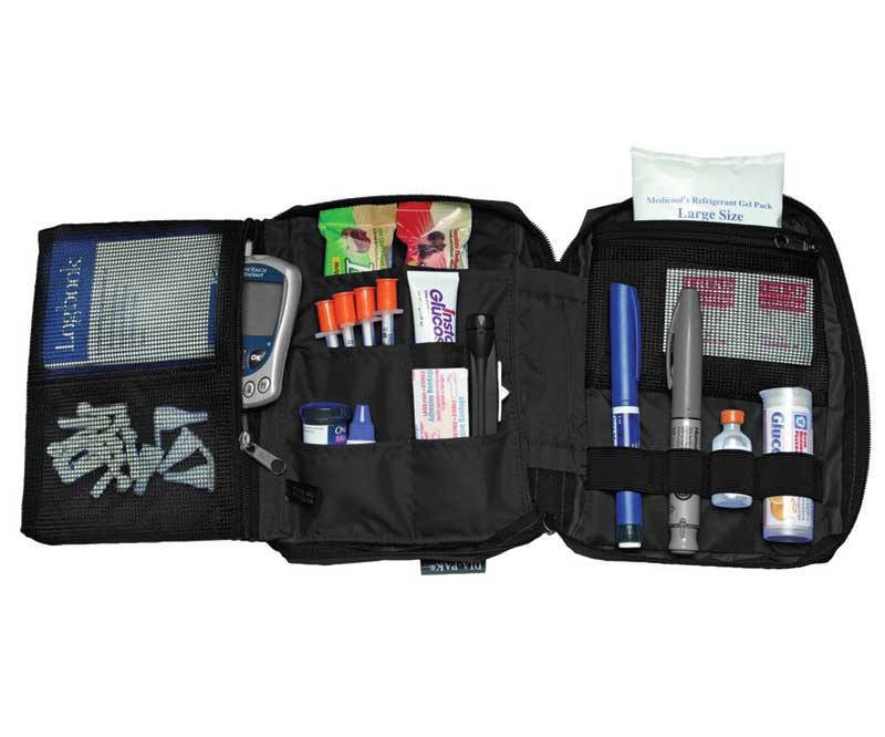 Buy Medicool Dia-Pak Deluxe Diabetic Organizer, Black online used to treat Diabetes Supplies - Medical Conditions