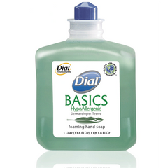 Buy Dial Basics Hypoallergenic Foaming Lotion Soap, 1 Liter Refill Bottles, 6/Case with Coupon Code from Dial Corporation Sale - Mountainside Medical Equipment