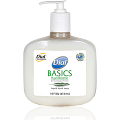 Buy Dial Basics Hypoallergenic Liquid Soap, 16 oz Pump, 12/Case by Dial Corporation online | Mountainside Medical Equipment