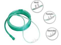 Oxygen Nasal Cannula with Super Soft 7' Tubing for Respiratory Supplies by Amsino | Medical Supplies