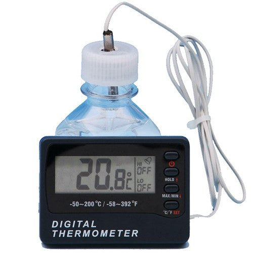 Digital Bottle Thermometer with Min/Max, Audible Alarm