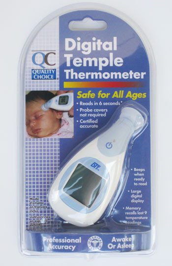 Buy Digital Temple Thermometer by Quality Choice wholesale bulk | Baby Thermometers