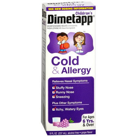 Childrens Dimetapp Cold and Allergy Medicine 8 oz