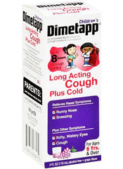 Childrens Dimetapp Long Acting Cough Plus Cold Medicine 4 oz for Cold Medicine by Wyeth Pfizer | Medical Supplies