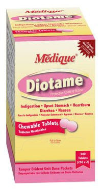 Buy Diotame Bismuth Packets Unit Dose (250 x 2 Packs) used for Laxatives by Medique